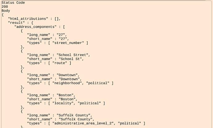 Saving Google Places API nested array value to attribute