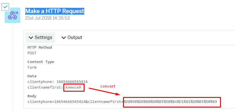 Make a HTTP Request with russian languige input - Questions